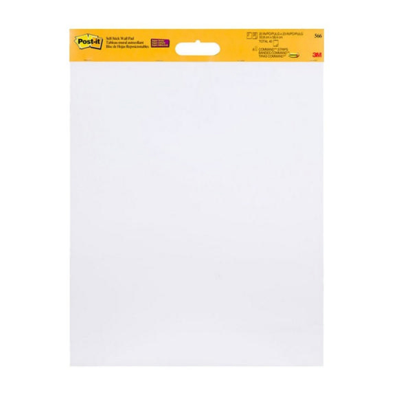 Post-it Table Top Meeting Chart White Refill Pad (Pack of 2) 566 | 3M52794