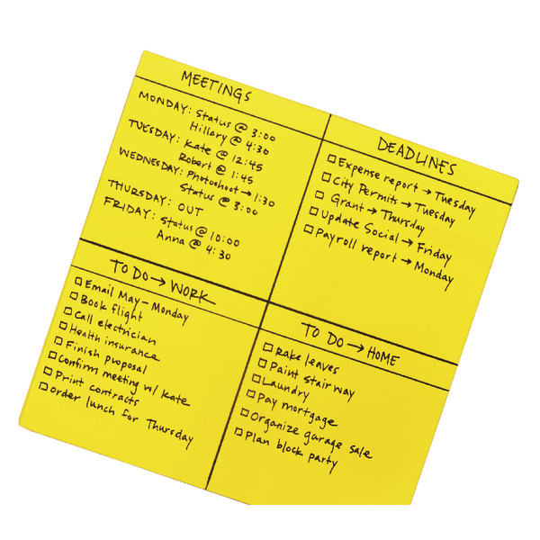 Post-it Super Sticky Yellow Big Notes 279 x 279mm Pack of 30 BN11-EU | 3M93197