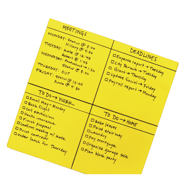 Post-it Super Sticky Yellow Big Notes 558 x 558mm Pack of 30 BN22-EU | 3M93198
