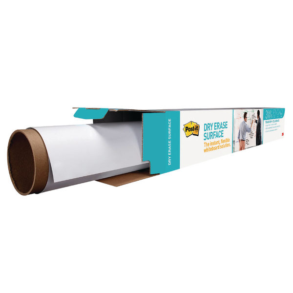 Post-it Super Sticky White Dry Erase Film Roll 609 x 914mm DEF3X2EU | 3M93199