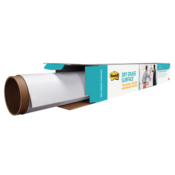 Post-it Super Sticky White Dry Erase Film Roll 914mm x 1.219m DEF4X3-EU | 3M93200