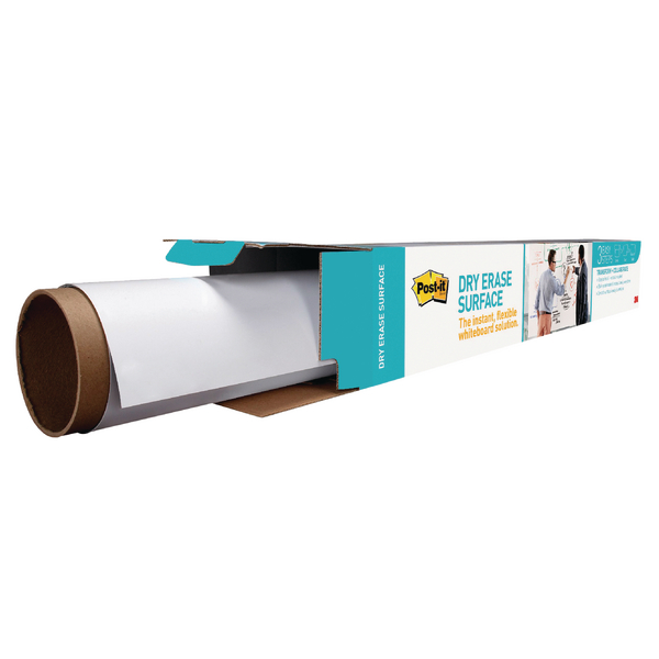 Post-it Super Sticky White Dry Erase Film Roll 15.24 x 1.21m DEF50X4-EU | 3M93201