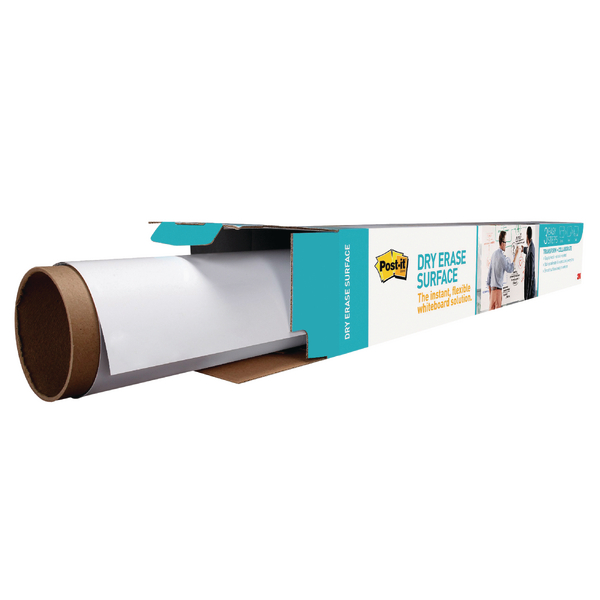 Post-it Super Sticky White Dry Erase Film Roll 1.219 x 1.829m DEF6X4-EU | 3M93202