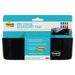 Post-it Dry Erase Black Accessory Tray with 4 Large Command Strips DEFTRAY-EU | 3M93265