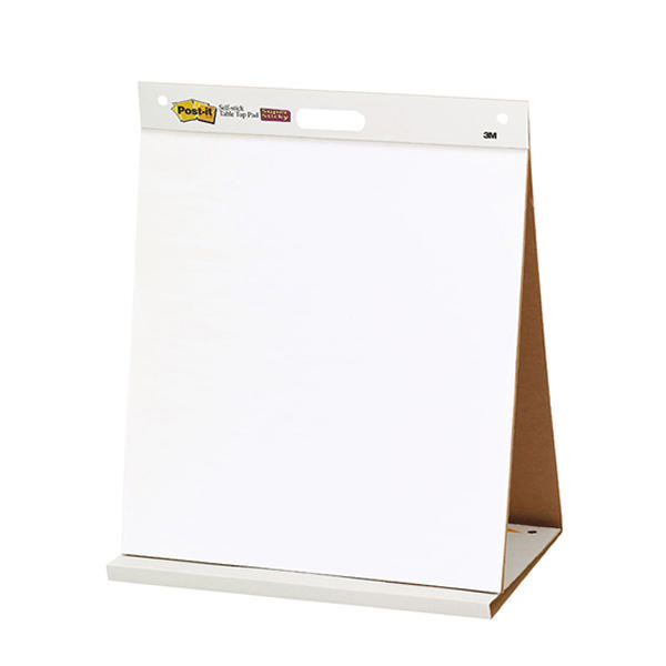 Post-it Table Top Easel Refill Pad Plain White 563R | 3M96384