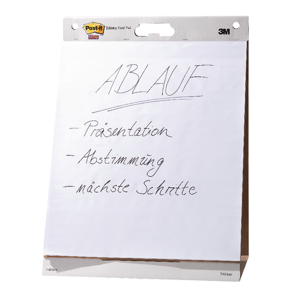 Post-it Super Sticky Plain White Easel Pad 30 Sheets 635 x 762mm Pack of 6 559-V6PK | 3M97934