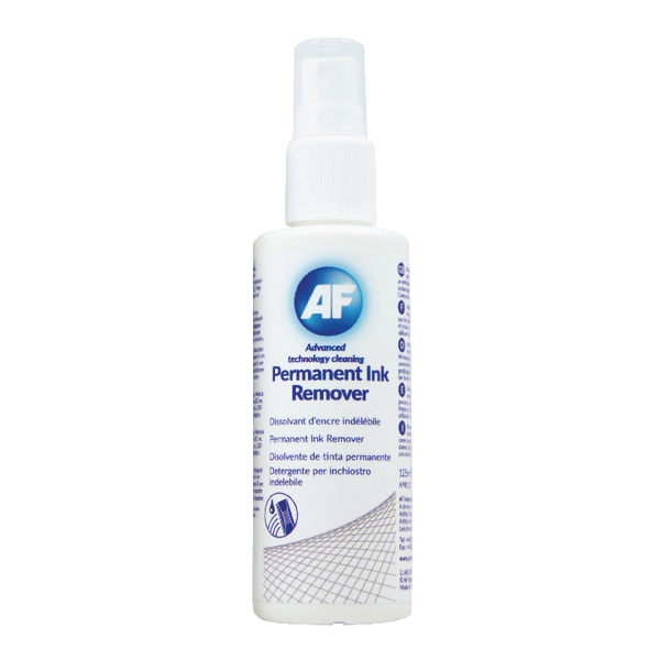 AF Permanent Ink Remover 125ml Pump Spray APIR125 | AFI50187