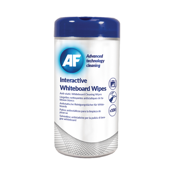 AF Interactive Whiteboard Wipes (Pack of 100) AWBW100T | AFI50260