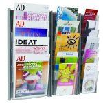 Alba Wall Display Unit 5 Pocket A5 Metallic W200xH560mm DDPROmmM | ALB01220