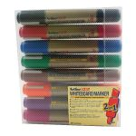 Artline Assorted 2-in-1 Whiteboard Markers Bullet/Chisel Tip (Pack of 8) EK525TA | AR84649