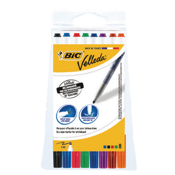 Bic Velleda 1721 Fine Tip Assorted Whiteboard Marker (Pack of 8) 1199005728 | BC05728