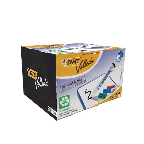 Bic Velleda 1701 Bullet Tip Assorted Whiteboard Marker (Pack of 48) 927259 | BC38541