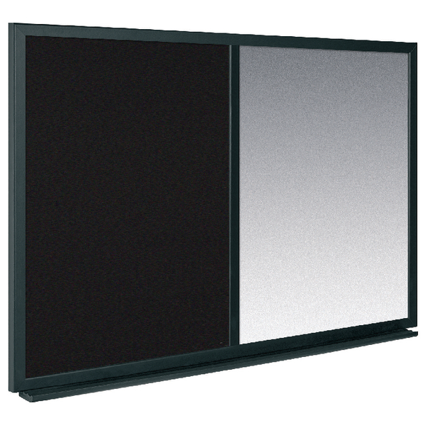 Bi-Office Combo Message Board 600x900mm Black /Silver MX07232169 | BQ02723