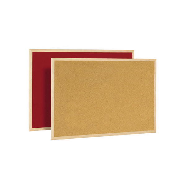 Bi-Office Cork/Felt Double-Sided Board 600x900mm FB0710010 | BQ04071