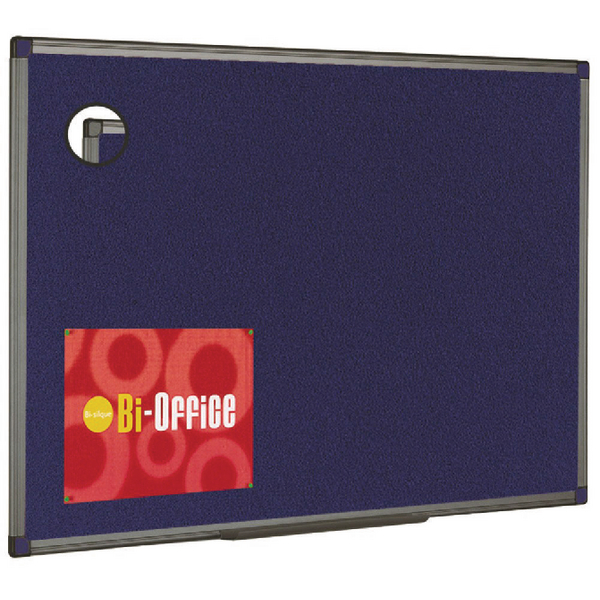 Bi-Office Aluminium Finish Felt Notice Board 600x450mm FB0443186 | BQ04186