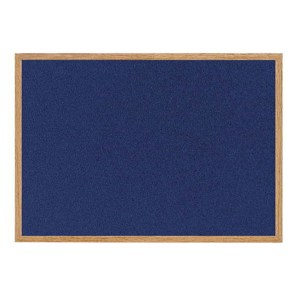 Bi-Office Earth-it Felt Notice Board 1200x900mm Blue RFB1443233 | BQ04349