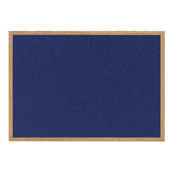 Bi-Office Earth-it Felt Notice Board 1200x900mm Blue RFB1443233 | BQ04349