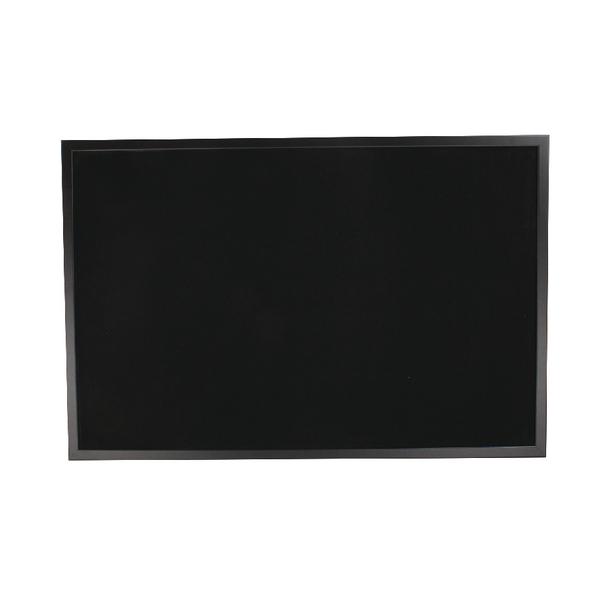 Bi-Office Black Softouch Surface Notice Board FB0736169 | BQ04361