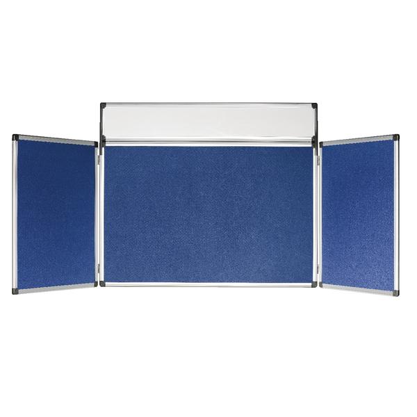 Bi-Office 4 Panel Mini Display Kit Blue DSP350111 | BQ10312