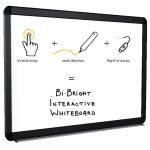 Bi-Office Bi-Bright eRED3 Interactive Whiteboard 78in BI1291805B | BQ10478