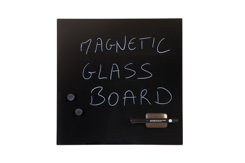 Bi-Office Magnetic Glass Personal Board Black 380x380mm GL140201 – BQ11314