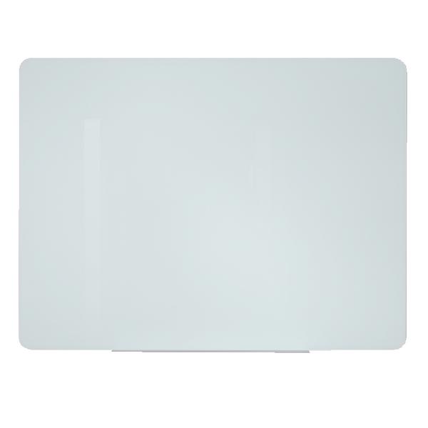 Bi-Office Glass Projection Screen and Magnetic Drywipe Board 1600x1000mm GL094201   BQ11395