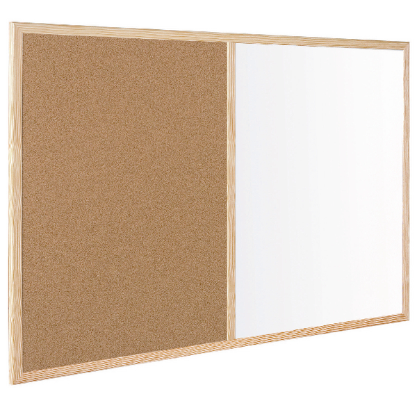 Bi-Office Wood Frame Cork/Drywipe Board 600x400mm MX03001010 | BQ23010