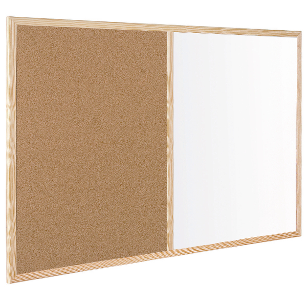 Bi-Office Wood Frame Cork/Drywipe Board 900x600mm MX07001010 | BQ27010