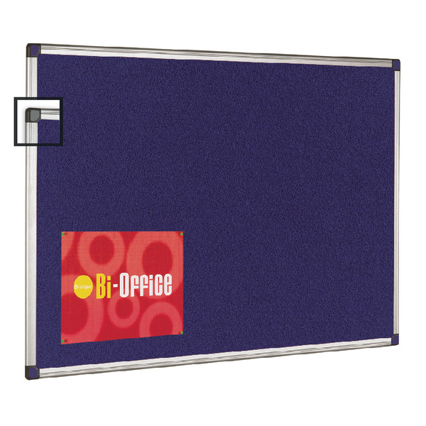 Bi-Office Aluminium Trim Felt Notice Board 900x600mm FA0343170 | BQ35034
