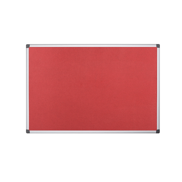 Bi-Office 1200x900mm Red Felt Board FA0546170 | BQ35546