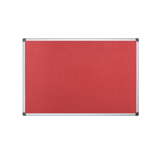 Bi-Office 1200x900mm Red Felt Board FA0546170 | BQ35546