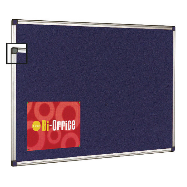 Bi-Office Aluminium Trim Felt Notice Board 1800x1200mm FA2743170 | BQ35743