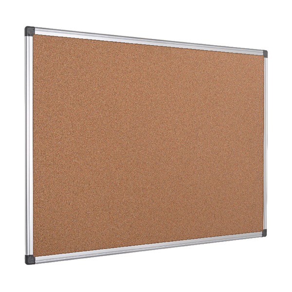 Bi-Office Aluminium Frame Cork Notice Board 900x600mm CA031170 | BQ42031