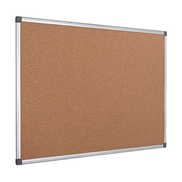 Bi-Office Aluminium Frame Cork Notice Board 1200x900mm CA051170 | BQ42051