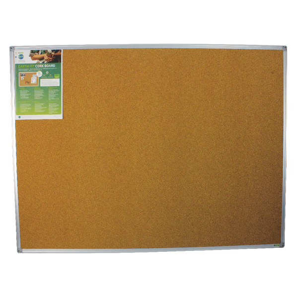 Bi-Office Earth-It Aluminium Frame Cork Board 1200x900mm CA051790 | BQ42059