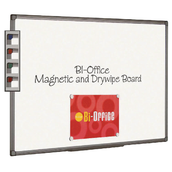 Bi-Office Magnetic Whiteboard 1200x900mm Aluminium Finish MB1406186 | BQ46418
