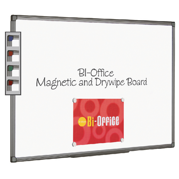 Bi-Office Magnetic Whiteboard 900x600mm Aluminium Finish MB0706186 | BQ46618