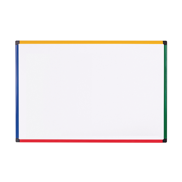 Bi-office Coloured Frame Magnetic Drywipe Board 600x450 MB0407866 | BQ46668