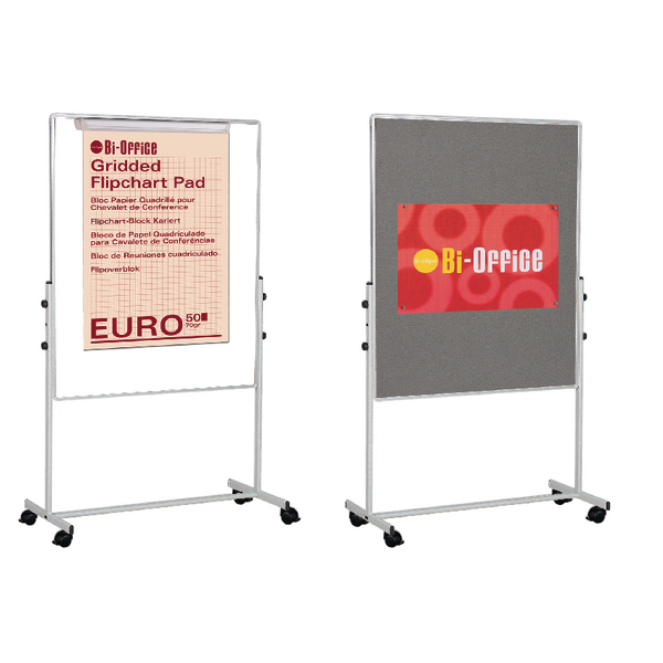 Bi-Office White Portable Duo Board & Flipchart Easel EA4724075 | BQ50075