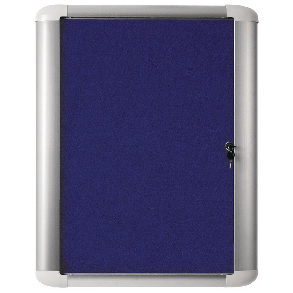 Bi-Office External Display Case 626x670mm Blue Felt Aluminium Frame VT620107760 | BQ52227
