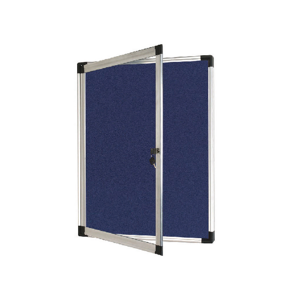 Bi-Office External Display Case 670x934mm Blue Felt Aluminium Frame VT630107760 | BQ52723