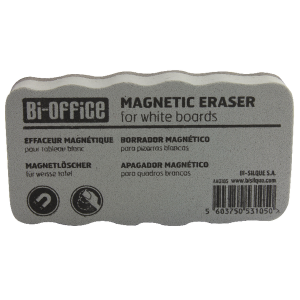 Bi-Office White Lightweight Magnetic Eraser AA0105 BQ53105 | BQ53105