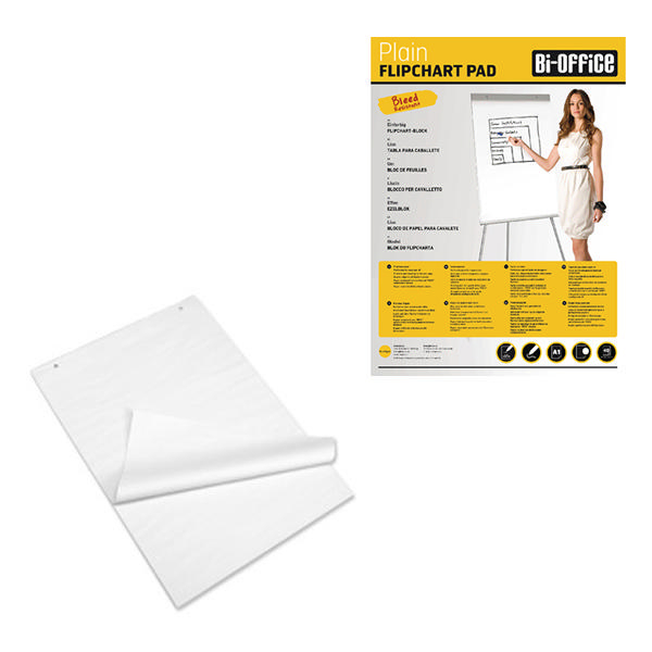 Bi-Office White A1 Plain Flipchart Pads (Pack of 5) FL010101 | BQ55101