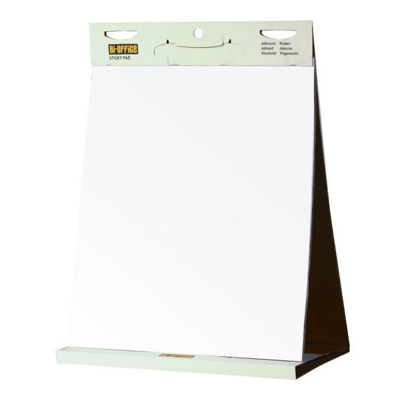 Bi-Office Table Top Self-Stick Flipchart Pad 585x500mm 20 Sheets White FL148303 | BQ55484