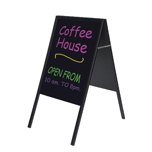 Bi-Office A Frame Chalk Board Black Frame 600x1200mm DKT30404042 | BQ76042