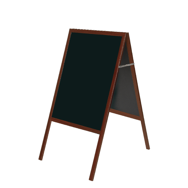 Bi-Office A Frame Chalk Board Cherry Frame 600x1200mm DKT30404052 | BQ76052