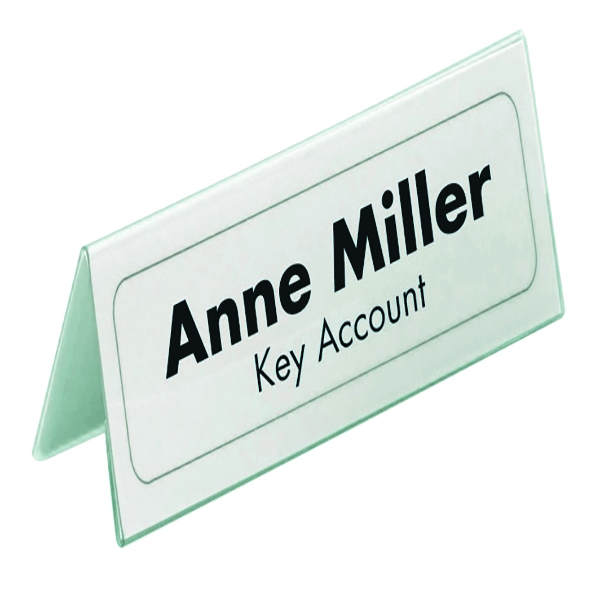 Durable Table Place Name Holder Inserts 52x100mm (Pack of 40) 1458/02 | DB14058