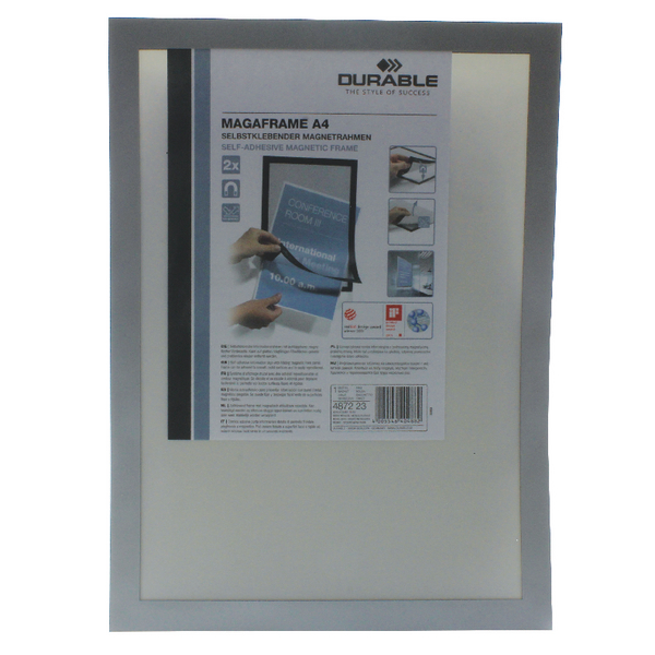 Durable A4 Silver Duraframe (Pack of 2) 4872/23 | DB40488