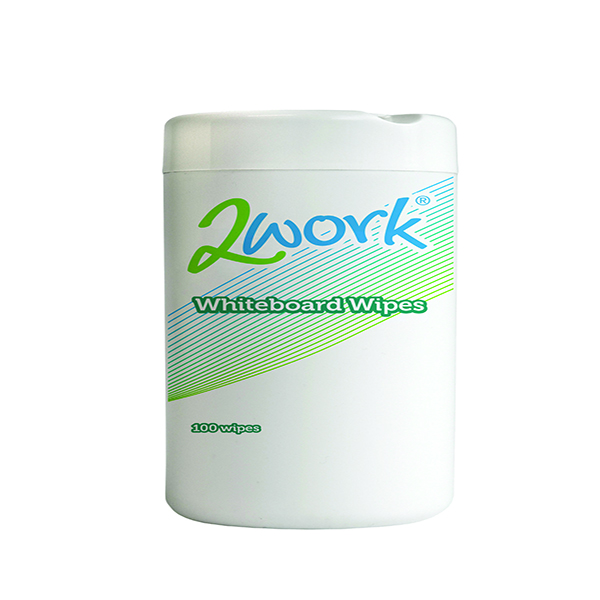 2Work Whiteboard Cleaning Wipes (Pack of 100) DB50372 | DB50372