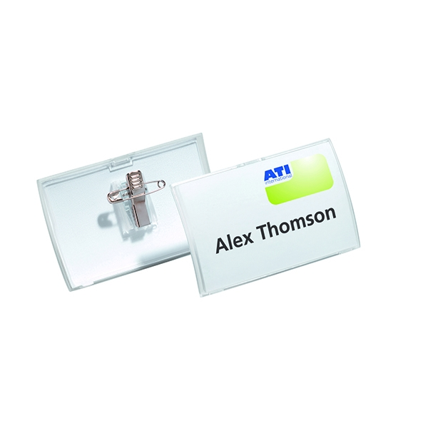 Durable 54x90mm Combi Clip Name Badge (Pack of 25) 8214/19 | DB80305